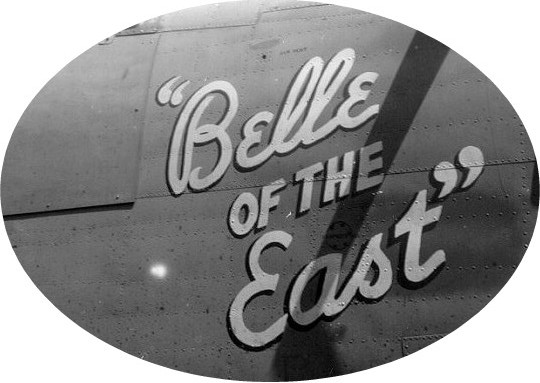 "Nose art from the "" Belle of the East"""