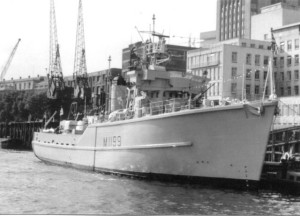 HMS Belton alongside