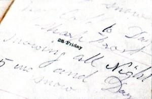 Diary entry from November 27 1890