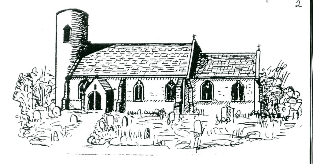 An outline sketch of Belton's 12th century church