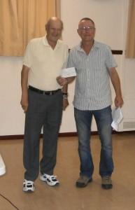 Cheque presentation to Malcolm Metcalf. July 27, 2014