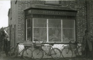 Belton Village Butcher on St. Johns Road, in later year this building was the Doctors surgery.