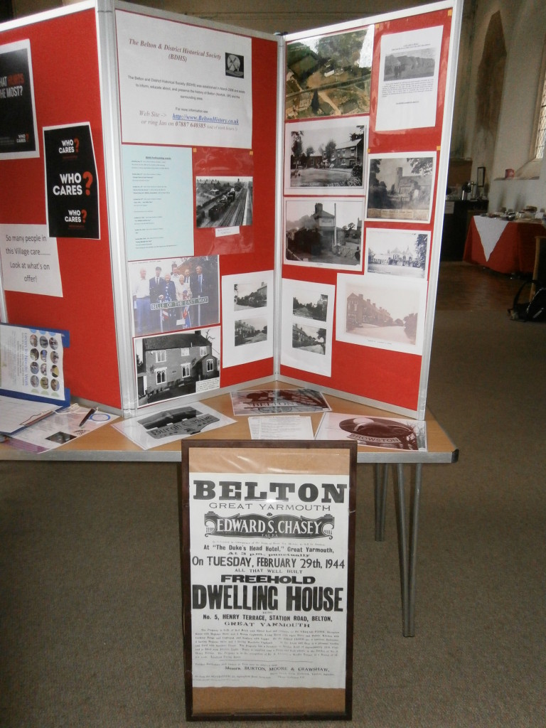 The Belton & District Historical display at Who Cares