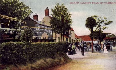 Belton Gardens about 1900