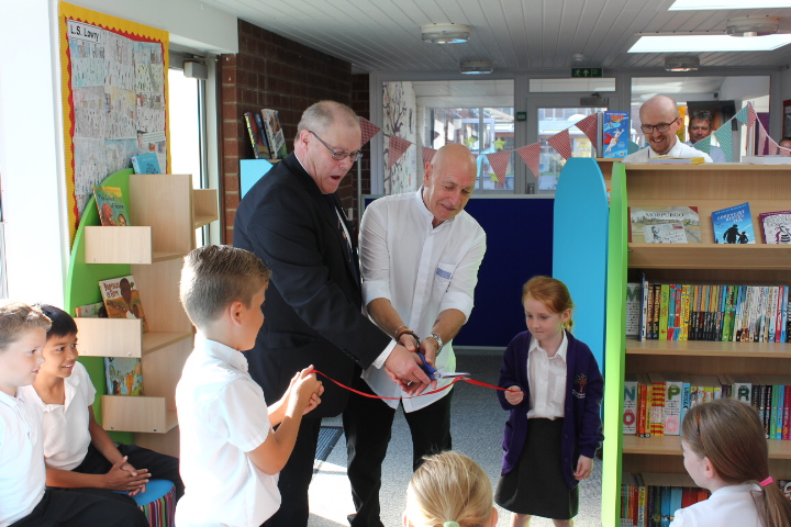 Belton primary academy's new library