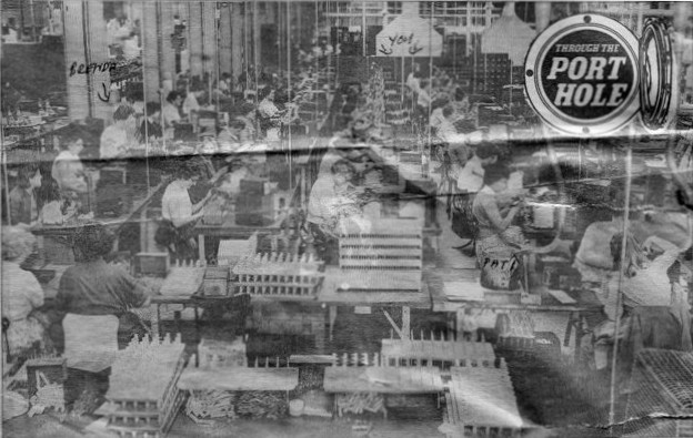 Women workers at Erie - Resistor in 1959 busily winding wire round resistors
