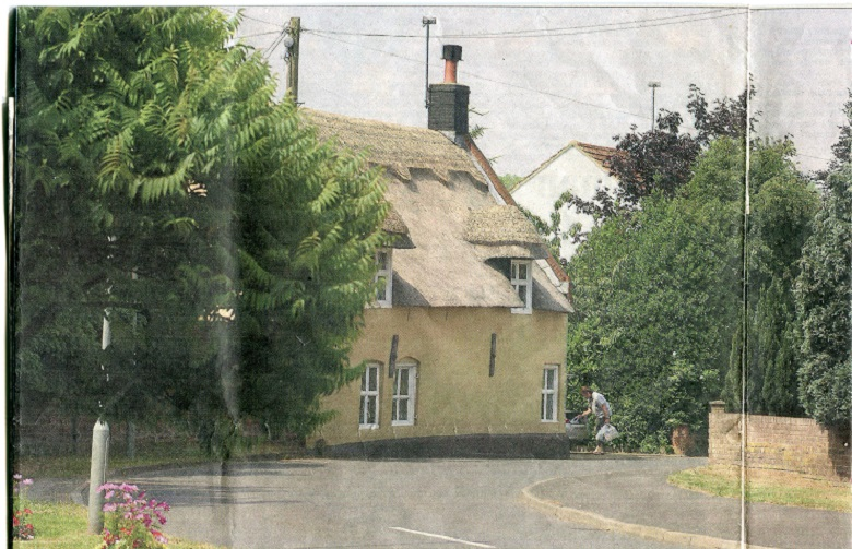 The Thatched Cottage on the corner of Bracon road and Station road South